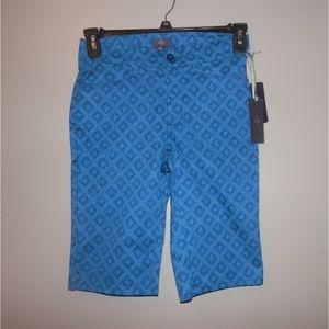 NEW NYDJ Shorts 00 XXS Blue Bermuda Walking